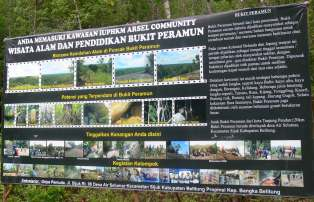 Bukit Peramun Aik Selumar Belitung