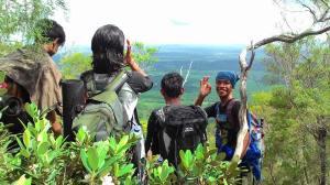 au sommet du pouce de la montagne Kubing