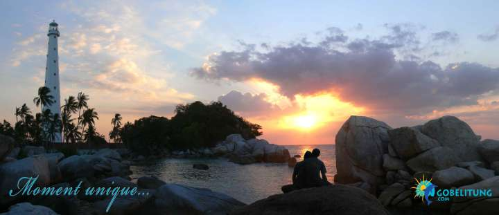 Honey moon sunset Lengkuas Go Belitung