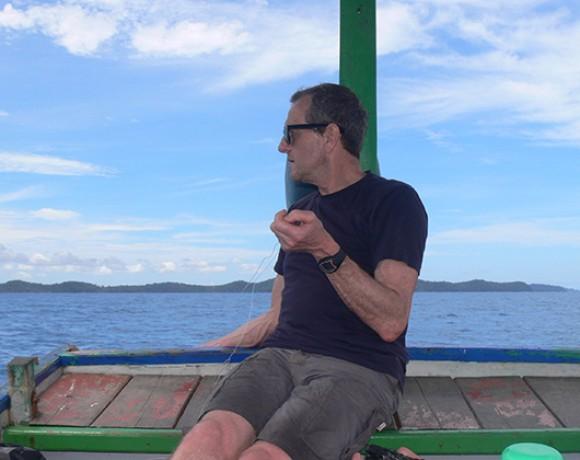 Téo a la pêche Belitung Indonésie Go Belitung