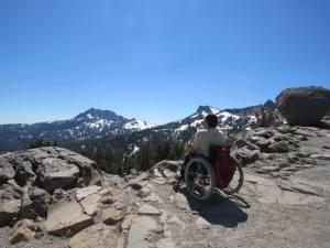 sitting on Mt. Lassen California
