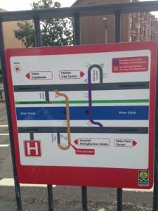 New sign Northbound tunnel