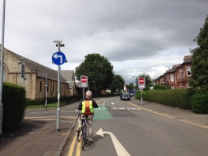 Cardonald Place Road contraflow
