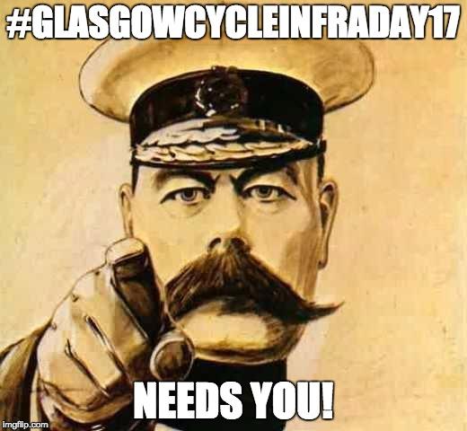 #GlasgowCycleInfraDay17 Needs You!