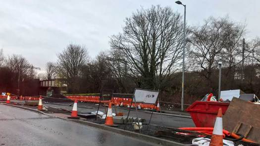 East City Way work in progress – London Road, Glasgow