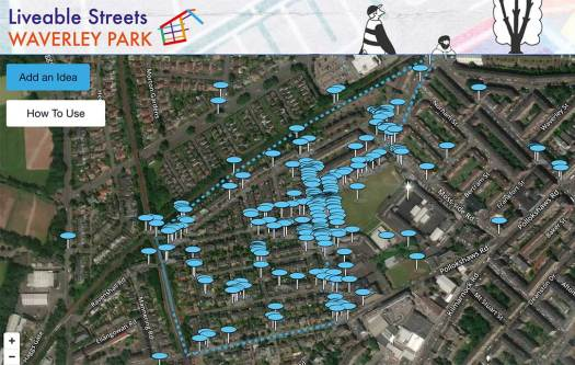 Waverley Park map