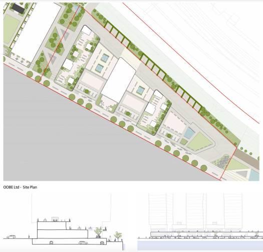 Yorkhill Quay site plans