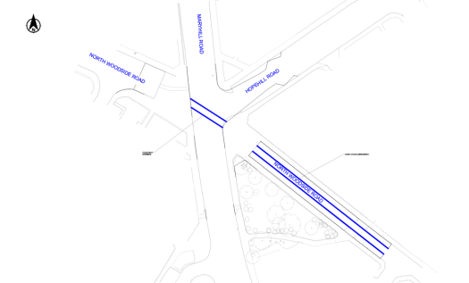 Maryhill Rd junction TRO drawing
