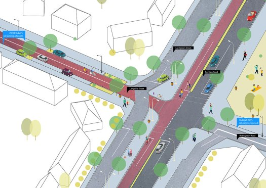 Proposal for Royston Rd at Langdale St/Robroyston Rd