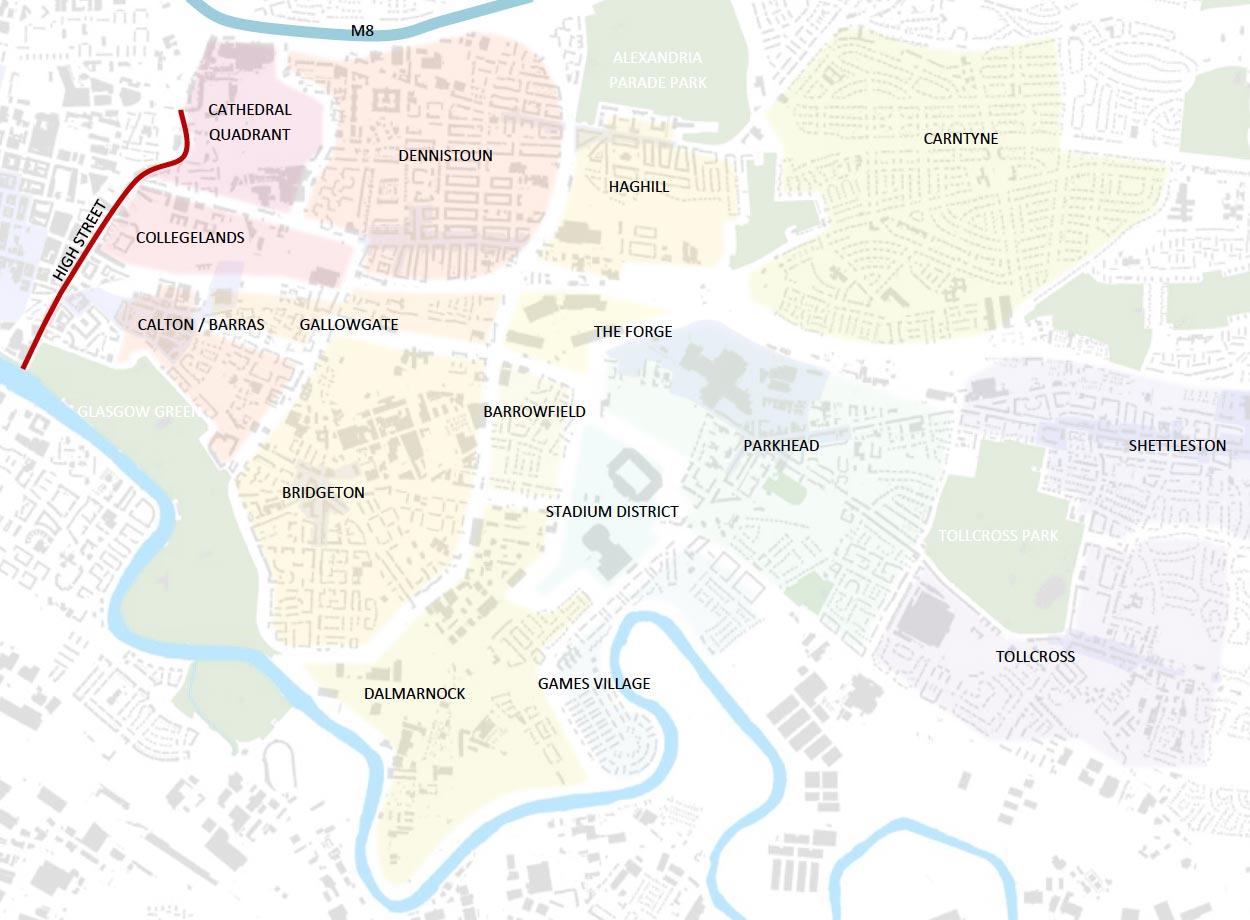 Inner East map