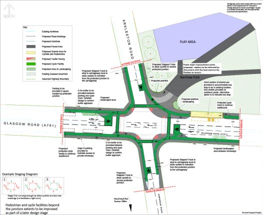 Barshaw Park junction Option 3 drawing