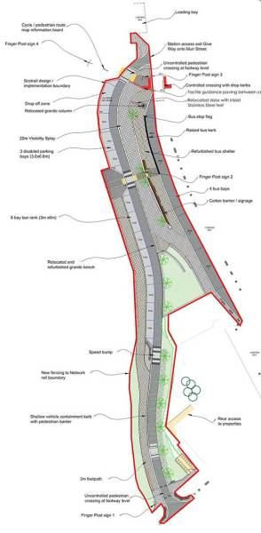 Plan of new access to west of Muir St