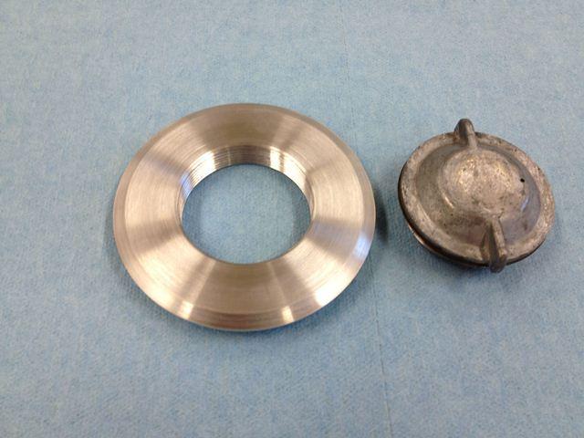 Monocoupe gas cap flange and gas gauge flange   Monocoupe