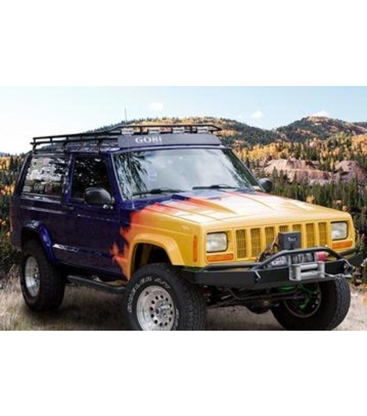 jeep cherokee xj stealth rack multi light setup no sunroof