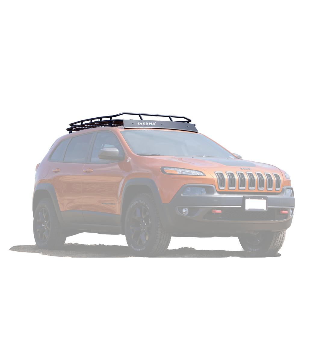 jeep cherokee kl stealth rack multi light setup no sunroof