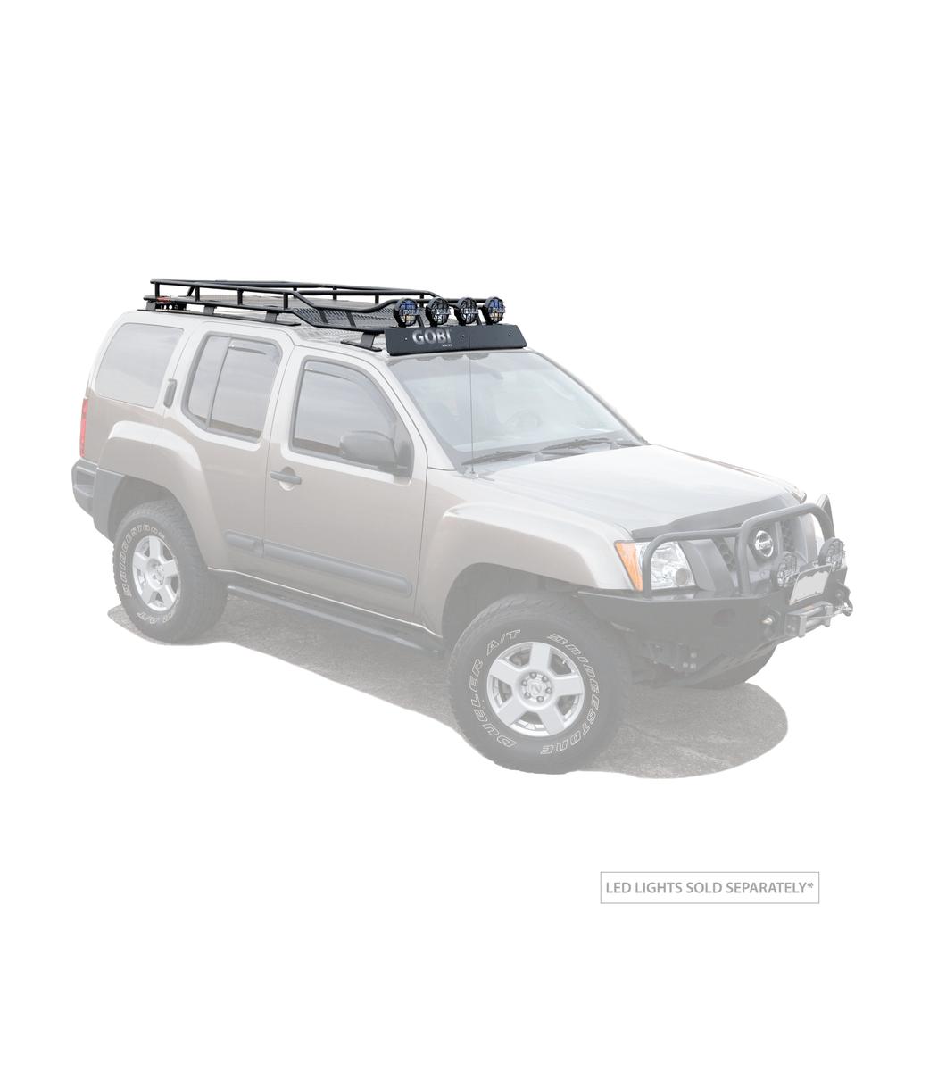 nissan xterra 05 15 ranger rack multi light setup no sunroof