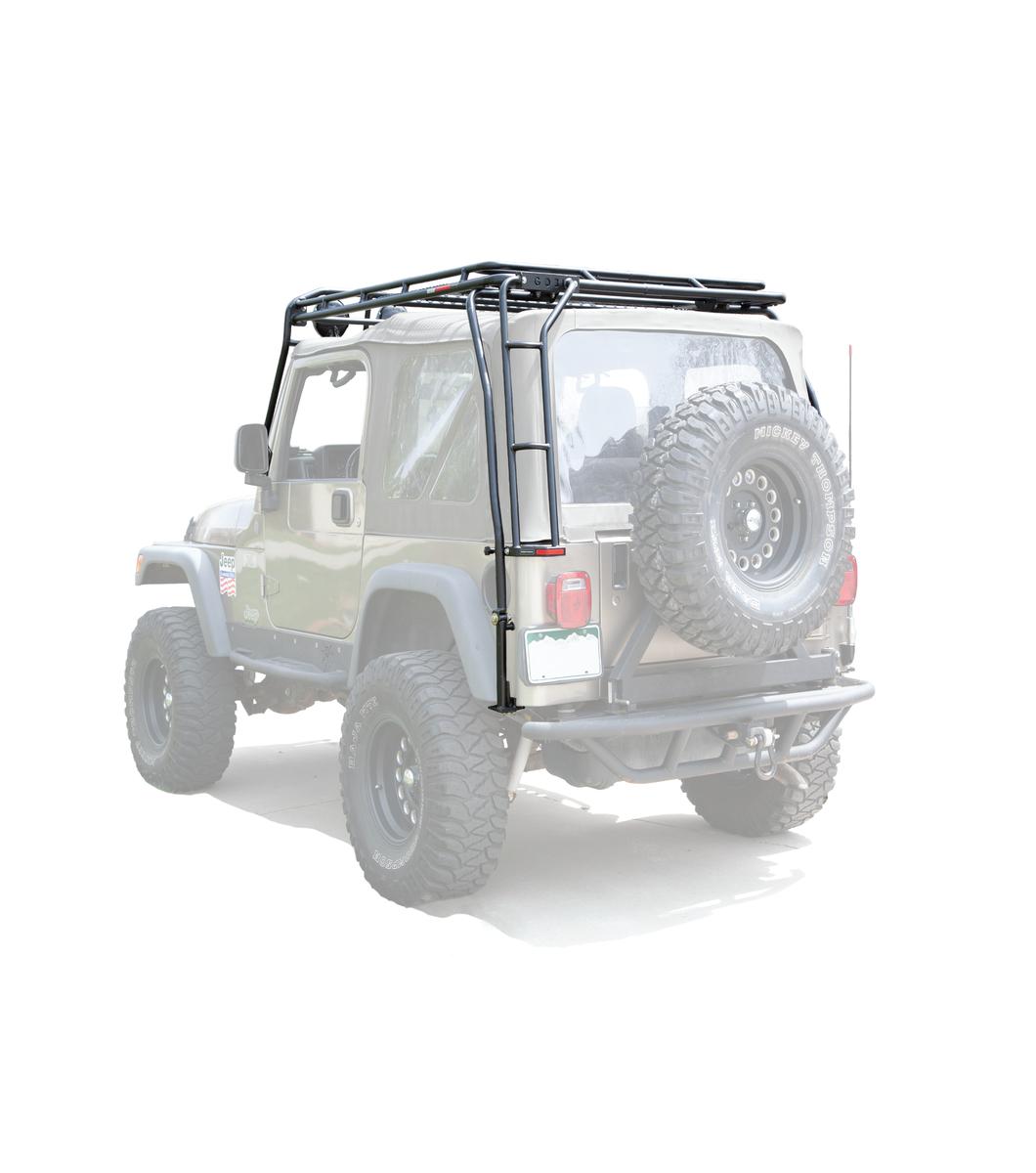jeep wrangler tj ranger rack multi light setup