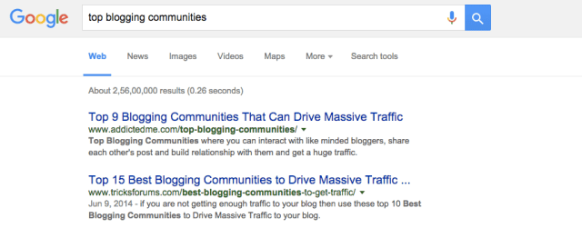 Communities search