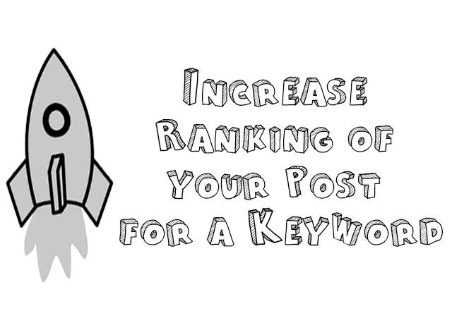 Increase ranking of a post