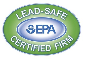 "Badge showing that this company has been certified as ""lead-safe"" by the Environmental Protection Agency."
