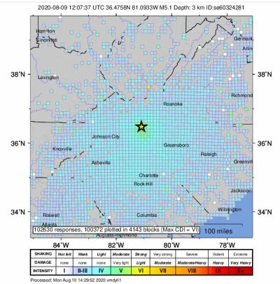 Sunday's 5.1 Quake In Alleghany Second Strongest Ever In NC - GoBlueRidge