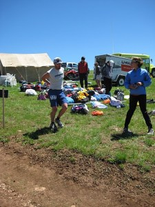 Leaving Dry Fork (mile 13.5).