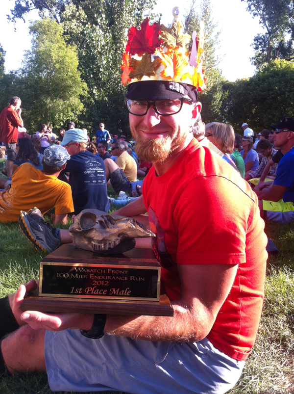 Jeff Browning with 2012 Wasatch Winner Trophy