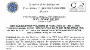CPD Law Amendments