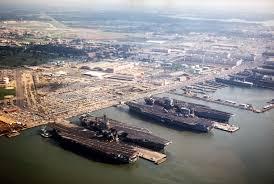 Aerial view of Naval Base Norfolk