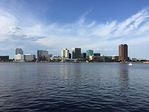 Water view of Norfolk VA