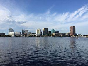 Water view of Norfolk VA