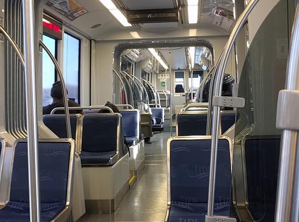 Interior view of Siemens S70 Light Rail Vehicle