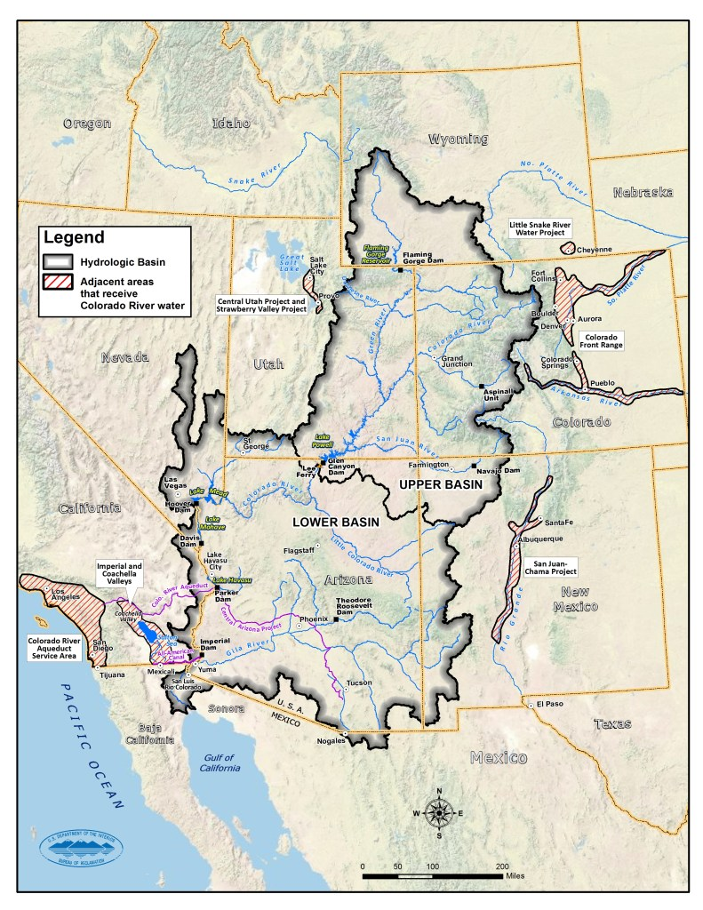 Map of the Colorado River Basin