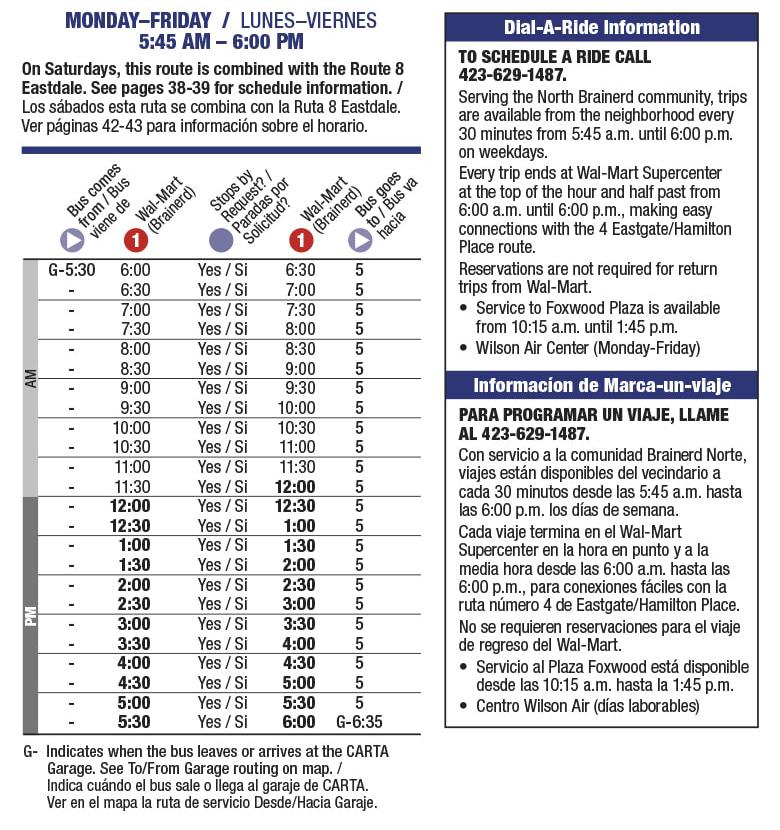 Rt 5 North Brainerd Schedule
