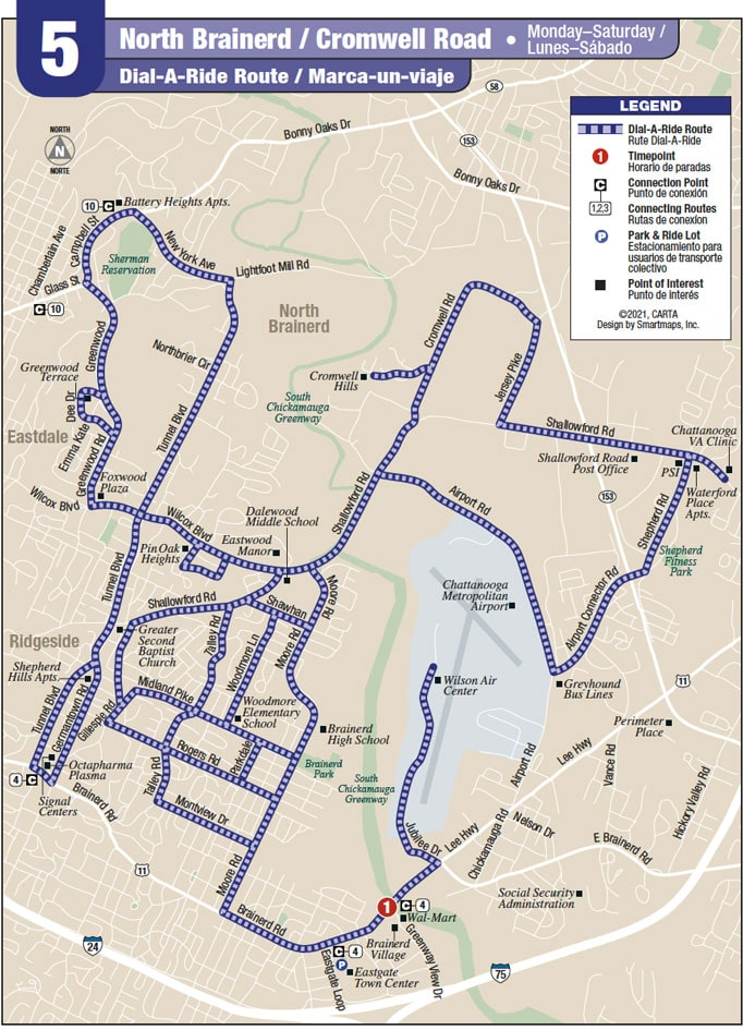 Route 5 map