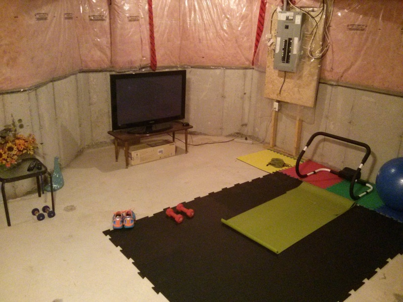 Unfinished Basement Home Gym