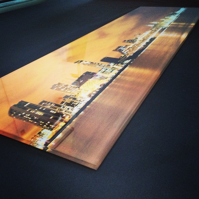 Glass printing! Amazing quality on 10mm toughened glass. Tested with image courtesy of @PotoStudios