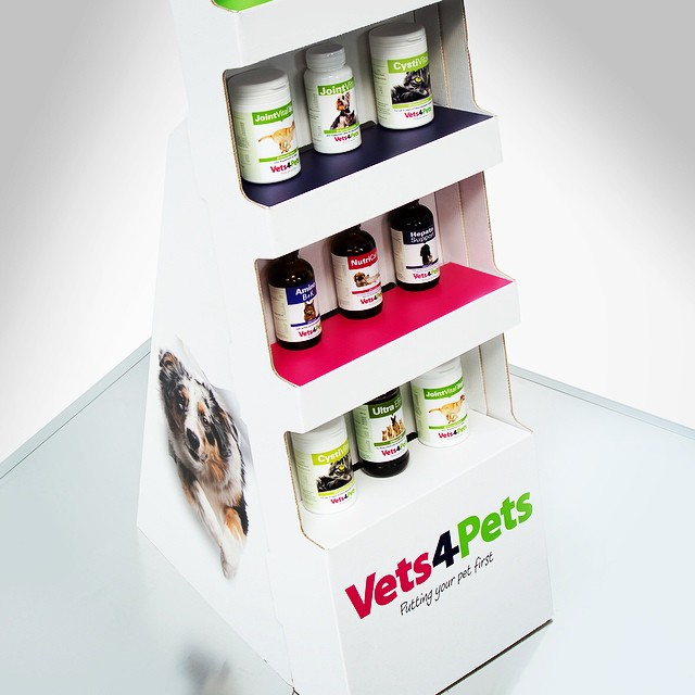 Point of Sale display stand and product label printing