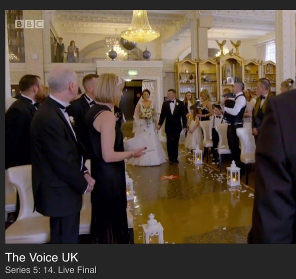 Great footage of the custom printed floor graphic we produced for @30jamesst on The Voice final