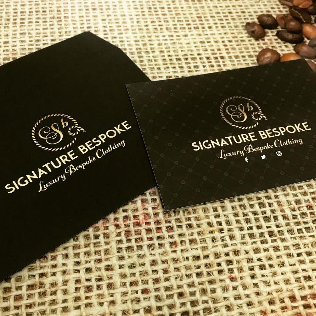 Gold foil invites for ⚫️ @signature_bespoke #creative #design #print #gold #foil #bespoke #suits #gocre8 #liverpool #invite #printing