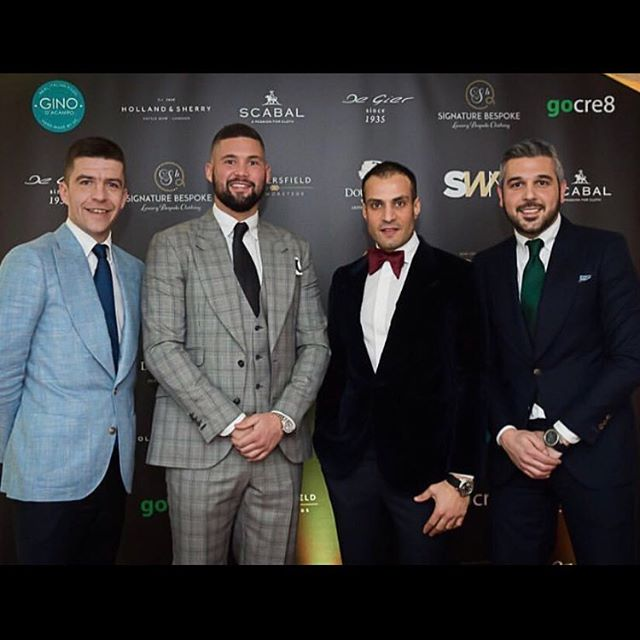 Congratulations @signature_bespoke on their shop opening aided by the man @tonybellew 🥊🥊🥊 #creative #print #signage #liverpool #signaturebespoke #tailor #design #tonybellew #creative #graphicdesign #design