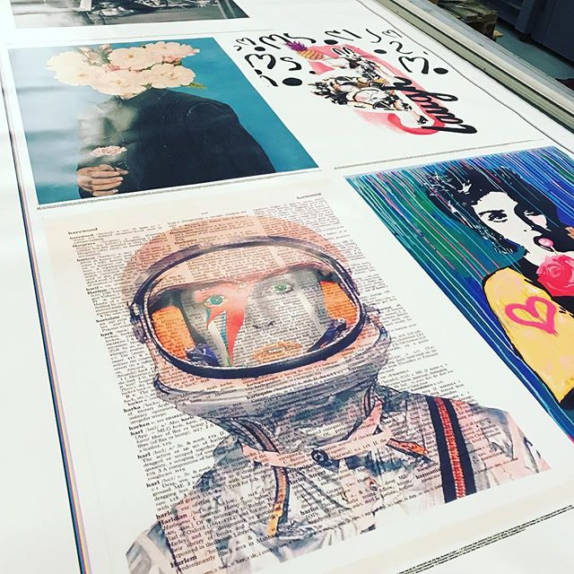 Some fantastic images go through our doors #gocre8 #art #print #design #posters #liverpool #bowie