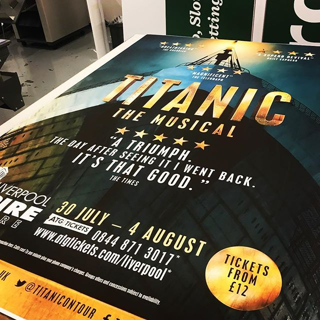 """I'm the king of the world!!"" The incredible Titanic @liverpool_empire with some gorgeous poster prints"