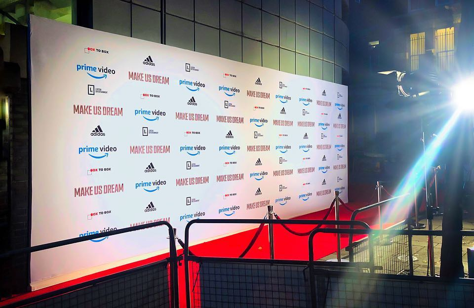 🎬🎬 Presswall for @stevengerrard @amazon  film 'Make Us Dream' #stevengerrard #amazon #premier #film #redcarpet #printing #signage #liverpool