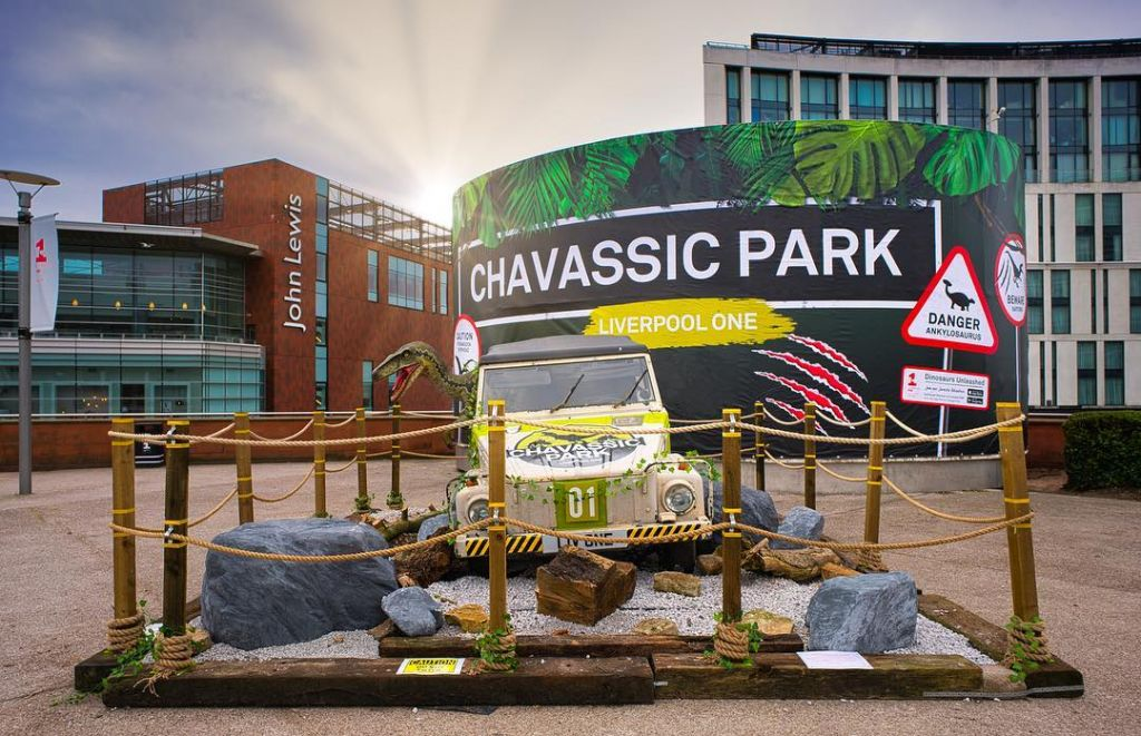 15m w x 5m h PVC banner printed for @liverpool_oneofficial Get ready for the Dinosaurs unleashed adventure at Chavasse Park this summer https://www.liverpool-one.com/things-to-do/spring/dinosaurs-unleashed #liverpoolone #bannerprinting
