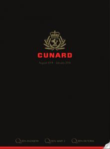 Cunard 2015 brochure