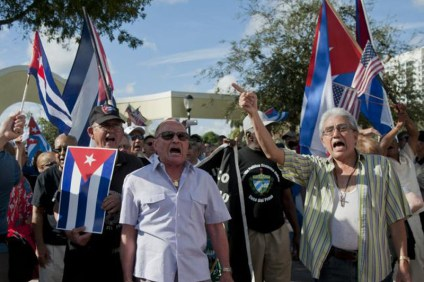 Manifestacja w obronie kubańskich więźniów politycznych