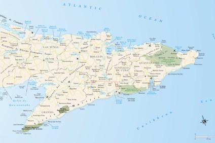 Mapa Wschodniej Kuby
