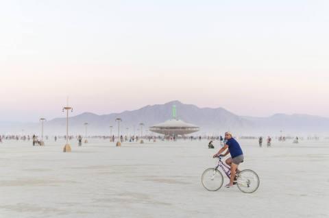 Biking at Burning Man