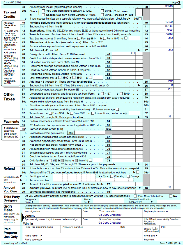 The Go Curry Cracker 2014 Taxes Go Curry Cracker – Capital Gains Worksheet 2014